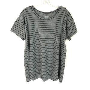 Lane Bryant short sleeve cotton t-shirt striped